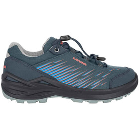 Lowa Zirrox GTX Low Shoes Kids steel blue/rosé